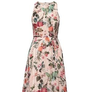 Banana Republic Floral Fit & Flare hi-low maxi